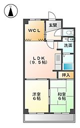 ファミリーハウス天塚[1階]の間取り