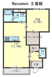 Masuemon II番館[1階]の間取り