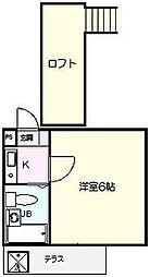 ジュネパレス松戸74[102号室]の間取り