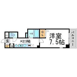 ラ・フォンテ尼崎駅前[7階]の間取り