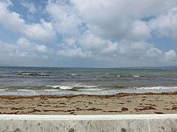海まで徒歩2分