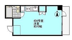 西新宿ハイホーム[404号室]の間取り