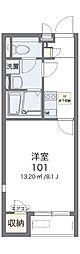 阪急千里線 関大前駅 徒歩12分の賃貸アパート 2階1Kの間取り