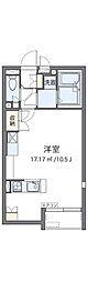 泉北高速鉄道 深井駅 徒歩30分の賃貸アパート 2階ワンルームの間取り