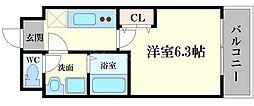 ドゥエリング千林[3階]の間取り
