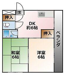 ウイング樋口[3階]の間取り