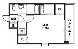 W.O.B.MIKUNI(ウォブ三国)[6階]の間取り