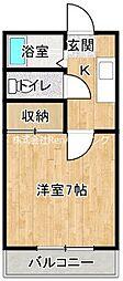 JR高徳線 板野駅 4.1kmの賃貸アパート 2階1Kの間取り