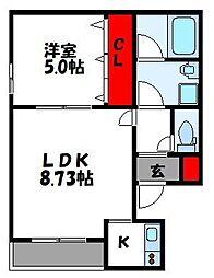 西鉄貝塚線 唐の原駅 徒歩4分の賃貸アパート