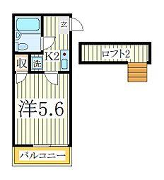 ジュネパレス松戸第518[1階]の間取り