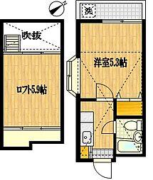 カルタス21宮崎台[1階]の間取り