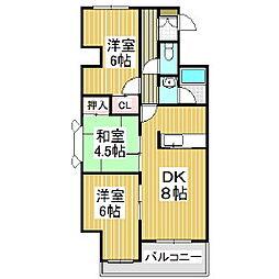 ジェイステージ苫小牧II[5階]の間取り