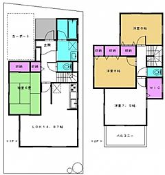 [一戸建] 千葉県松戸市新松戸1丁目 の賃貸【/】の間取り