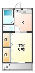 コーポKO館[2階]の間取り