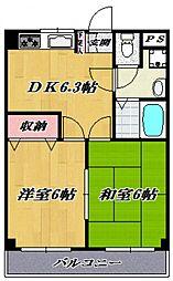 第3ゴージャスライフマンション[203号室号室]の間取り