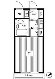 ライオンズマンション大倉山第11[4階]の間取り