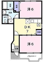 プレイン・ハウス[0102号室]の間取り