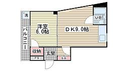第二荻坂ビル[301号室]の間取り