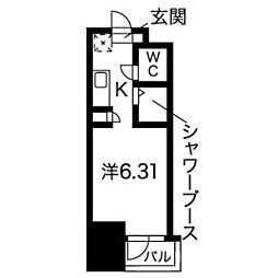 N.S.ZEAL 東別院[13階]の間取り