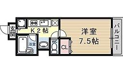 シェリール山崎[205号室号室]の間取り