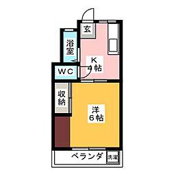 ウッドハウス[1階]の間取り