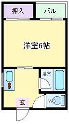 コーポシャルマン[2階]の間取り