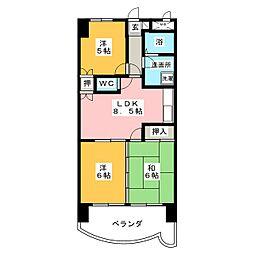 カーサフクシマA棟[5階]の間取り