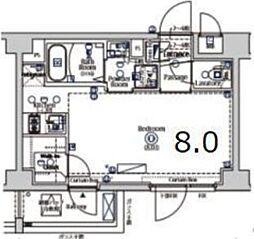XEBEC大鳥居II 3階1Kの間取り