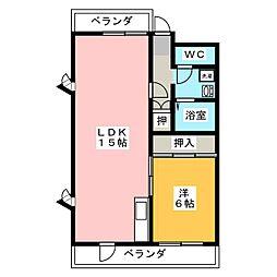 リブレM社台[3階]の間取り
