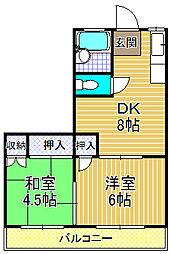 川忠ビル[3階]の間取り