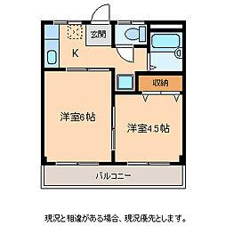 ジェントル矢沢[1階]の間取り