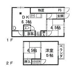 [テラスハウス] 兵庫県伊丹市南町4丁目 の賃貸【/】の間取り