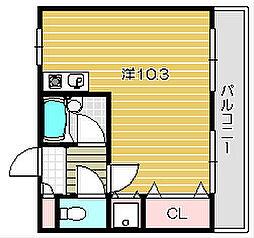 大阪府摂津市別府2丁目の賃貸マンションの間取り