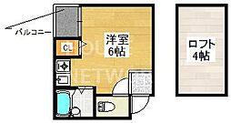 TKスペース[2-C号室号室]の間取り