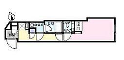 小田急小田原線 豪徳寺駅 徒歩4分の賃貸マンション 3階ワンルームの間取り