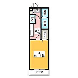 MAISON AYANA[1階]の間取り