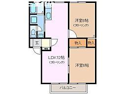 コリーナエスペランサ H棟[2階]の間取り