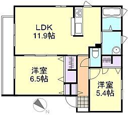 ル・バンベールB棟[2階]の間取り