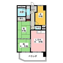 アーバンハイツ富吉[5階]の間取り