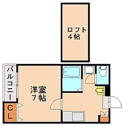 エムズハウス2[2階]の間取り