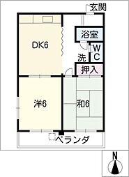 三秀荘[3階]の間取り