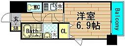 グランパシフィック本田[5階]の間取り