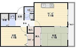 サニープラザ A棟[3階]の間取り