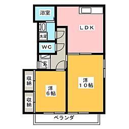 フーフォレ細江[2階]の間取り