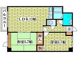 E1ビル清田通[2階]の間取り