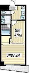 ヨシザワプラザビル[5階]の間取り