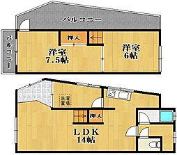 [テラスハウス] 大阪府松原市北新町3丁目 の賃貸【/】の間取り