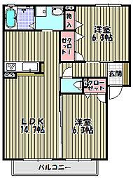 シャーメゾン昭栄[2階]の間取り