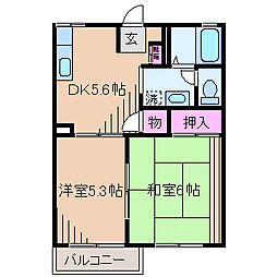 サンモールSANO[1階]の間取り