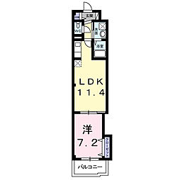 大阪府堺市堺区中田出井町3丁の賃貸マンションの間取り